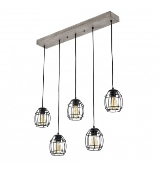 5-Light Kitchen Island Cluster Cage Pendant