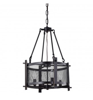 Aludra 4-Light Oil Rubbed Bronze Metal Mesh Shade Ceiling Fixture Chandelier