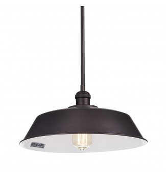 1-Light Oil Rubbed Bronze Modern Farmhouse Mini Pendant Ceiling Fixture